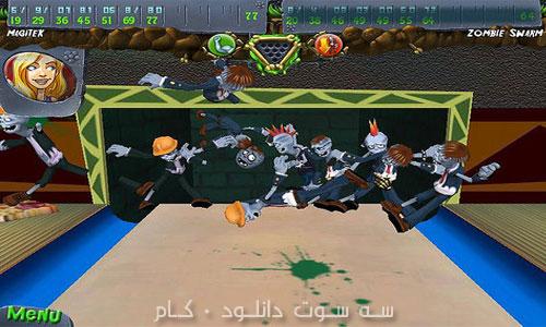 بازی بولینگ و زامبی ها - Zombie Bowl-O-Rama